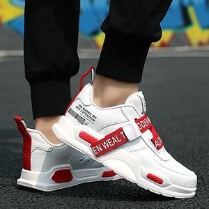 Image 5 - منصة أحذية رياضية الرجال مقاومة للاهتراء أحذية مفلكنة بنين ماركة احذية الجري رجل حذاء رياضة الذكور تنس سوبر ستار