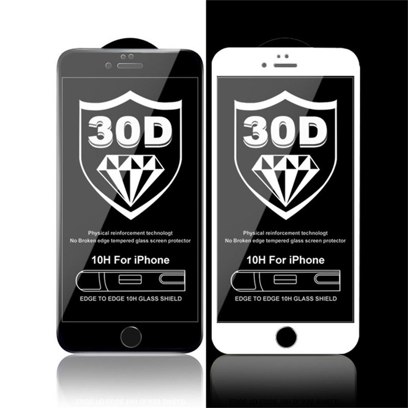 Image 5 - PLV 50D Tempered Glass On For iPhone 7 8 6 6S Plus X Full Cover Screen Protector For iPhone X XR XS MAX 5 5S SE Protective Glass-in Phone Screen Protectors from Cellphones & Telecommunications