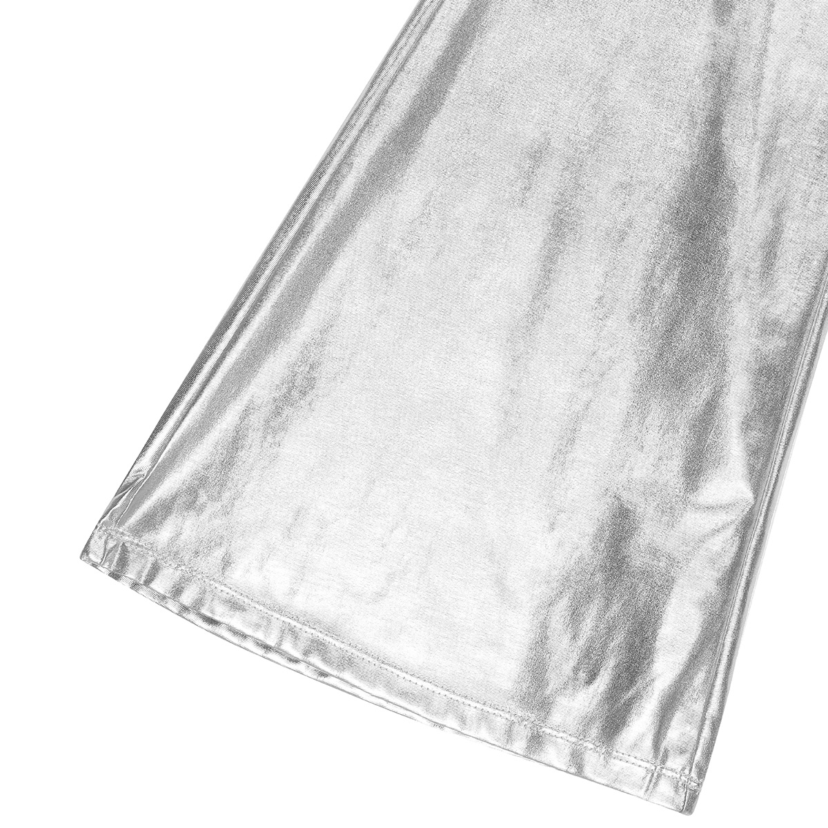 ChicTry Adults Mens Shiny Metallic Disco Pants with Bell Bottom Flared Long Pants Dude Costume Trousers for 70's Theme Parties 52