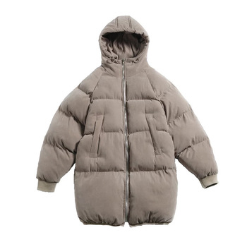 Cotton-padded New Winter down Feather Cotton-padded Clothes Korean-style Stylish Loose-Fit Medium-length