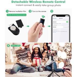 Image 3 - Выдвижная складная селфи палка BlitzWolf с bluetooth, штатив с дистанционным управлением и вращающимся держателем для телефона для iPhone 11