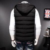 Plus Size 8XL Winter Hoodies Vest Men Casual Loose Fit Warm Sleeveless Male Coats Jackets Harajuku Zip Outwear Black Dark Blue