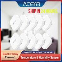 Aqara inalámbrica Zigbee de temperatura y humedad Sensor inteligente Kit de casa del higrómetro del termómetro Mijia temperatura y Sensor de humedad