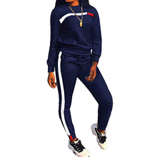 Autumn Winter 2 Piece Set Women Hoodies Tops Pants Lady Drawstring Trousers Tracksuit Sets Chandal Mujer 2 Piezas 2019(China)