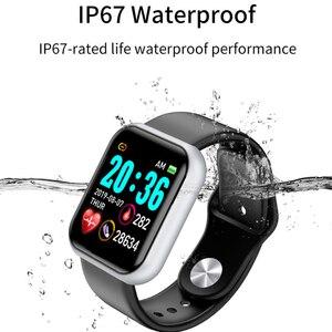Image 3 - スマート腕時計男性女性電子血圧ハートパルスレートモニターフィットネストラッカー Ip67 防水スマートウォッチ android ios
