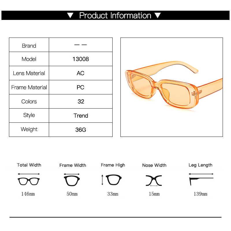 LongKeeper วินเทจแฟชั่น VINTAGE แว่นตากันแดดผู้หญิงยี่ห้อ Designer Retro สี่เหลี่ยมผืนผ้าดวงอาทิตย์แว่นตา UV400 เลนส์แว่นตา lentes de SOL mujer