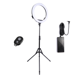 Neewer LED Ring Light with Stand and 2.4G Wireless Remote, 30W 3200K-5500K Makeup Ringlight with Soft Tube/Phone Holder