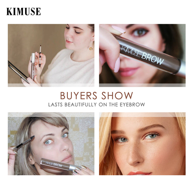 KIMUSE Eyebrow Gel Dye Waterproof Eyebrow Shasow Eyebrow Tint Eye Makeup Eyebrow Pencil Long Lasting Cosmetic Eyebrow Enhancer 4