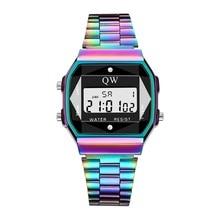 QW Sports Men Women Digital Watch Waterproof Fashion Analog