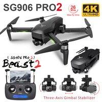 Dron SG906 MAX/Pro2 con GPS, cámara 4K, cardán de tres ejes con Wifi, FPV, sin escobillas, profesional, para evitar obstáculos