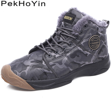 купить High Quality Thick Sole Winter Warm Men Boots Shoes Soft Top Male Snow Boots Outdoor Mens Ankle Boots Shoes Zapatillas Sneakers по цене 1677.13 рублей