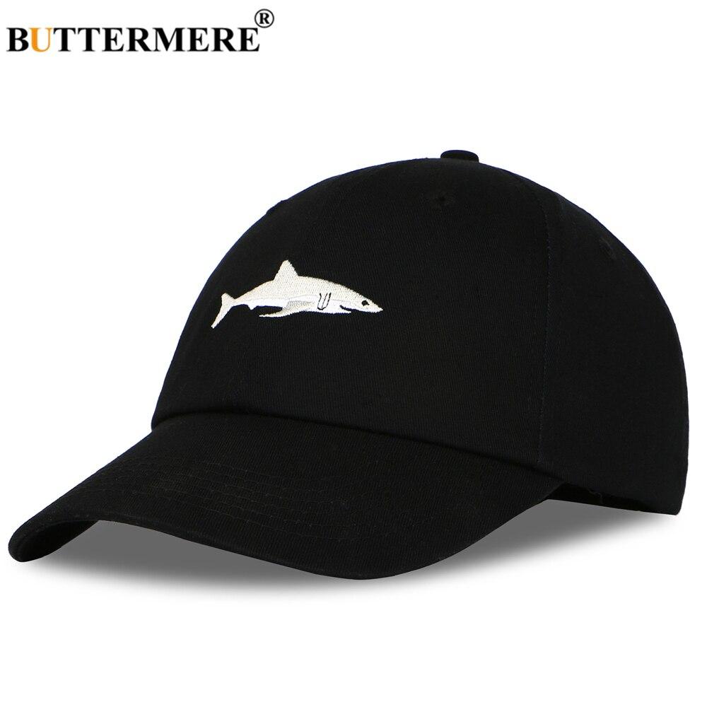BUTTERMERE Hat Men Shark Baseball Cap Black Famale Male Autumn Winter Snapback Designer Brand Dad Hat