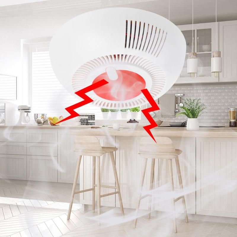 Independent Smoke Fire Alarm Home Security Wireless Fire Sensor Smoke Detector LED Indicator Alarm SMT Manufacturing