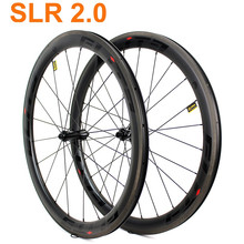 Elite SLR2.0 700c Carbon Racefiets Wielset A2 Rem Oppervlak Tubular Clincher Tubeless Straight Pull Lage Weerstand Keramische Hub(China)