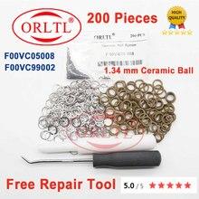 תיקון איטום טבעת F00VC99002 גודל 1.34MM קרמיקה כדורי F00VC05008 להזרקת מסילה משותפת 0445110275 0445120090 0445110059