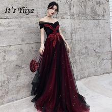 Вечерние платья с открытыми плечами it's yiiya r231 бордовые