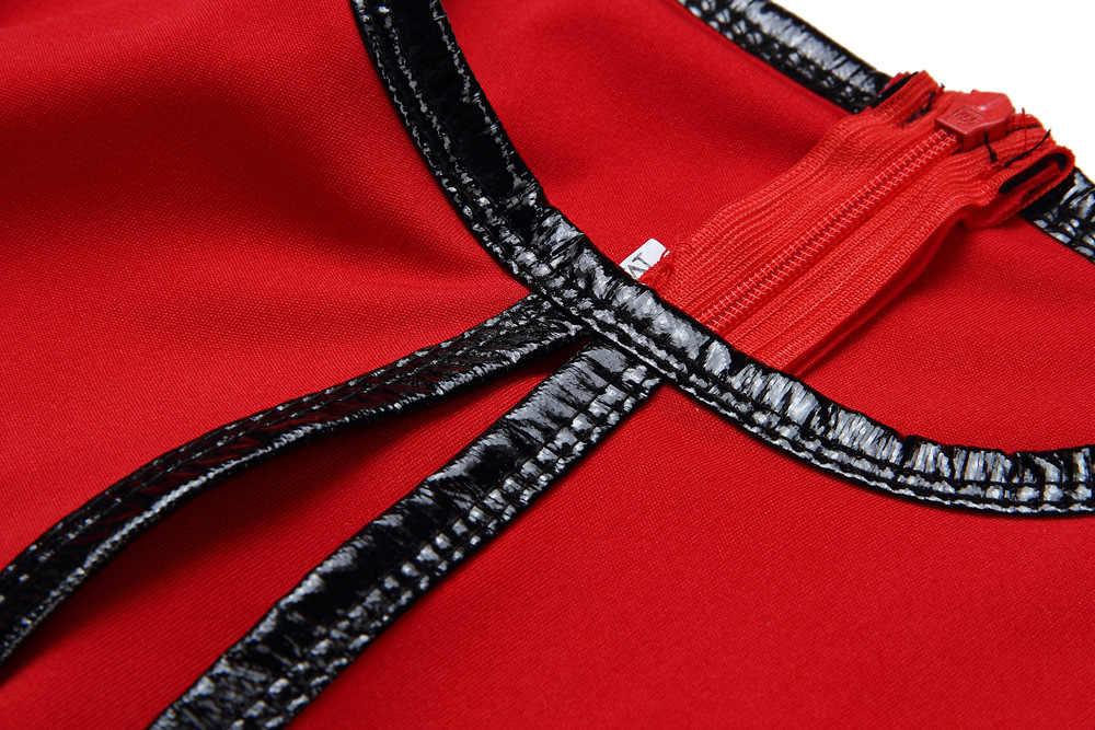 Vestidos africanos para mujeres falso dos piezas Dashiki Ankara vestido de Oficina Ropa Dama rojo azul negro Ropa Africana 2019