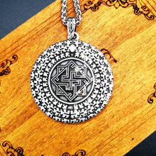 slavic Molvinets Yarilo in Sun Pendant Collier Necklace For Women Men Jewelry(China)