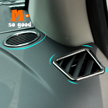 3pcs red car air conditioner switch cover for jeep wrangler 2008 2014 auto air conditioner button ring interior car styling 2011 2012 2013 2014 ABS Chrome Front Air Conditioner Outlet Panel Frame Cover Trim Auto Interior for Jeep Compass Accessories