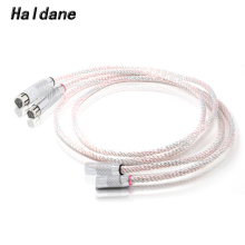 Haldane Valhalla Odin XLR Balanced Cable Interconnect Cable 3pin XLR Male to Female Cable with Carbon Fiber Rhodium plated Plugs