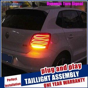 2011-2018 для vw polo светодиодные задние фонари для polo светодиодные задние фонари светодиодные задние лампы для автомобиля Стайлинг автомобиля с...