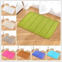 40*60cm Non Slip Memory Foam Bath Mat Rugs Bathroom Carpet