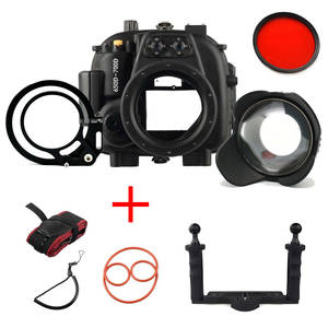 Waterproof Housing-Case Meikon Aluminium-Tray Canon Eos for 650D 700D with Fishey And