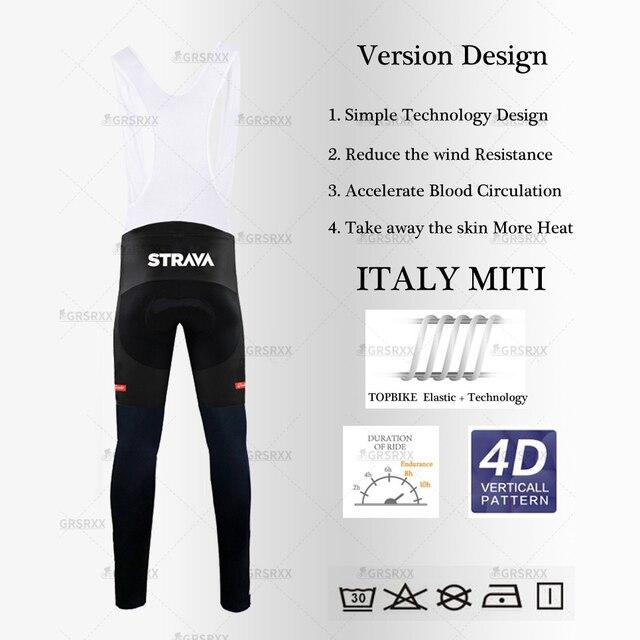 Strava conjunto camisa de ciclismo 2021 primavera pro equipe bicicleta manga longa roupas premium mtb mountain bike bib roupas esportivas terno 5