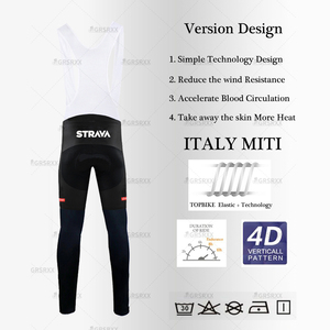 Image 5 - STRAVA ciclismo Jersey 2021 primavera profesional bicicleta equipo manga larga bicicleta ropa Premium MTB bicicleta de montaña babero traje de ropa deportiva