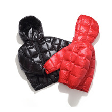 цена Children winter jacket for kids girl Black Red Boys Casual Hooded Coat Baby Clothing Outwear kids Parka Jacket Quality Snowsuit