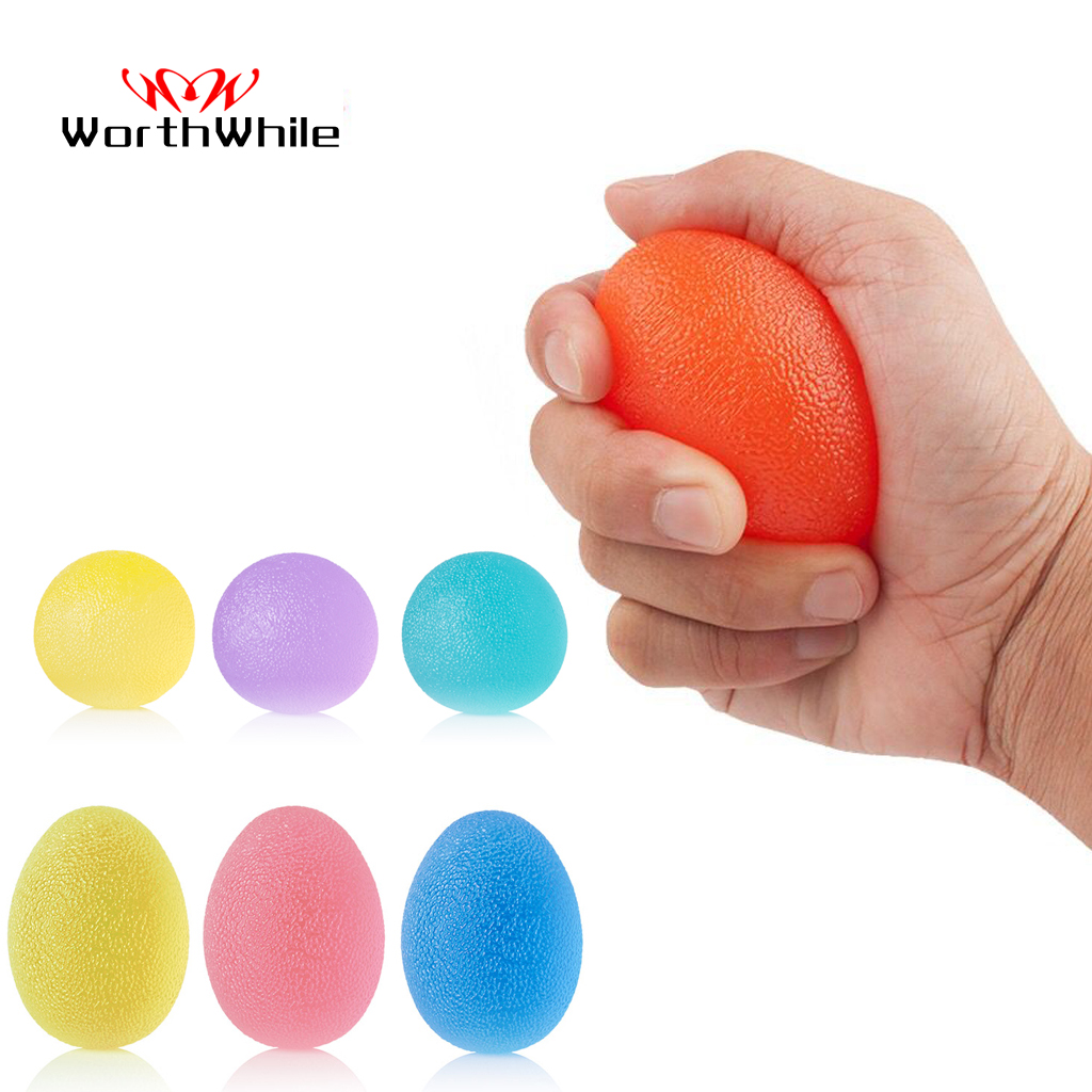 WorthWhile Silica Gel Hand Grip Ball Egg Men Women Gym Fitness Finger Heavy Exerciser Strength Muscle Recovery Gripper Trainer