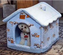 Casa do cão quente no inverno, quatro estações casa geral tipo lavável casa do gato fechado fontes da casa do cão