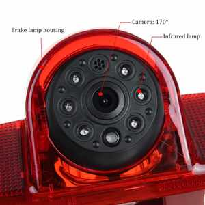 Image 3 - Ccd Hd Auto Achteruitrijcamera Backup Parking Brake Light Voor Renault Trafic 2001 2014 Voor Opel Vivaro Combo opel