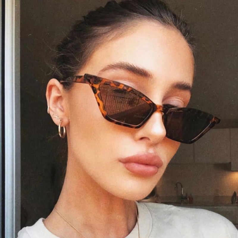 New Vintage Nero Occhio di Gatto Occhiali Da Sole di Modo Delle Donne Del Progettista di Marca Specchio Piccola Cornice Cateye Occhiali Da Sole Per La Femmina Shades UV400
