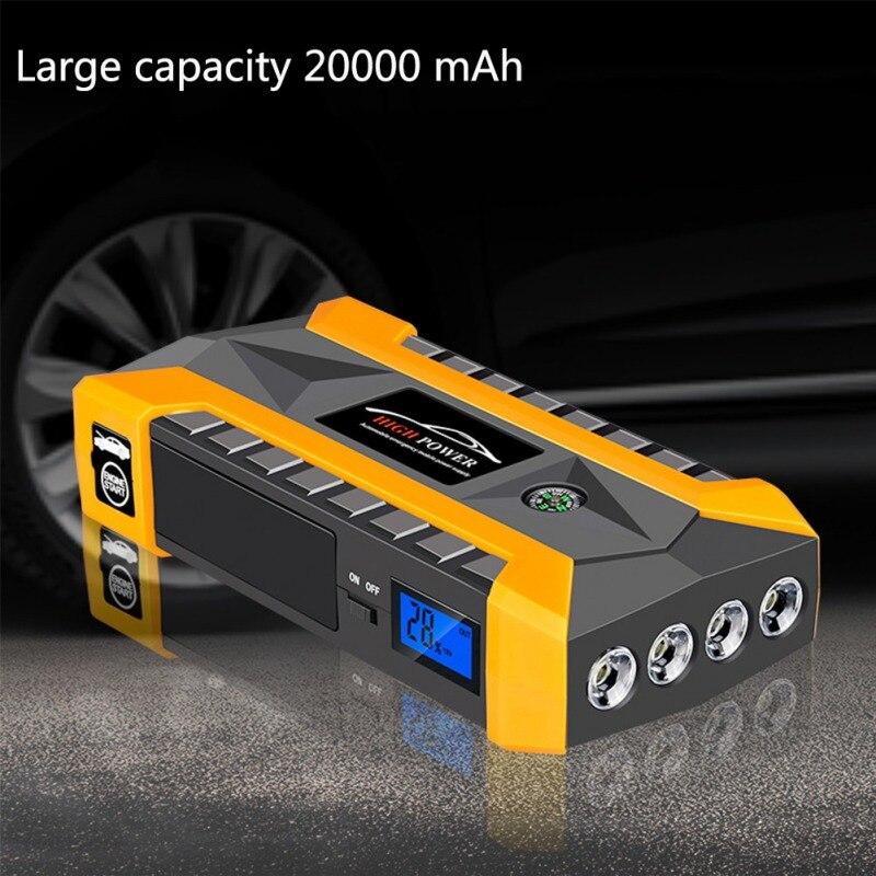 Multi-fonction voiture démarrage d'urgence puissance démarrage d'urgence démarrage allumage alimentation Mobile batterie externe pour téléphone portable