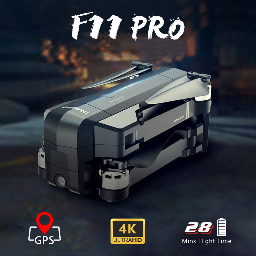 Global <font><b>Drone</b></font> 4K GPS <font><b>Drones</b></font> with 4K Camera HD <font><b>Brushless</b></font> Follow Me Professional Quadrocopter FPV Wifi Dron VS Visuo ZEN K1 F11 PRO image