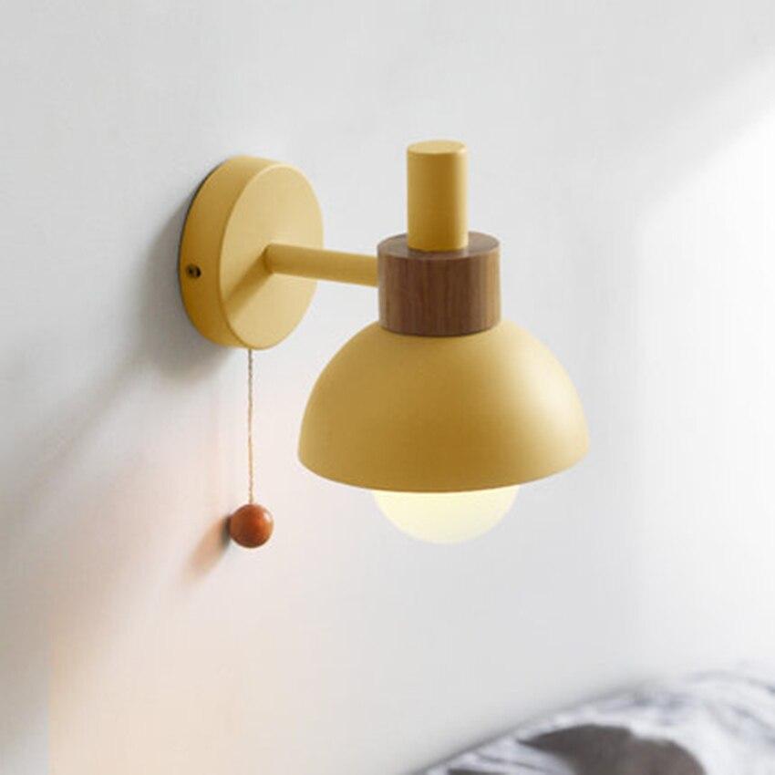 Nordic LED Macaron Flashlight Wall Lights Lighting Postmodern Indoor Decor Wall Lamp Restaurant Bedroom Bedside Light Fixtures