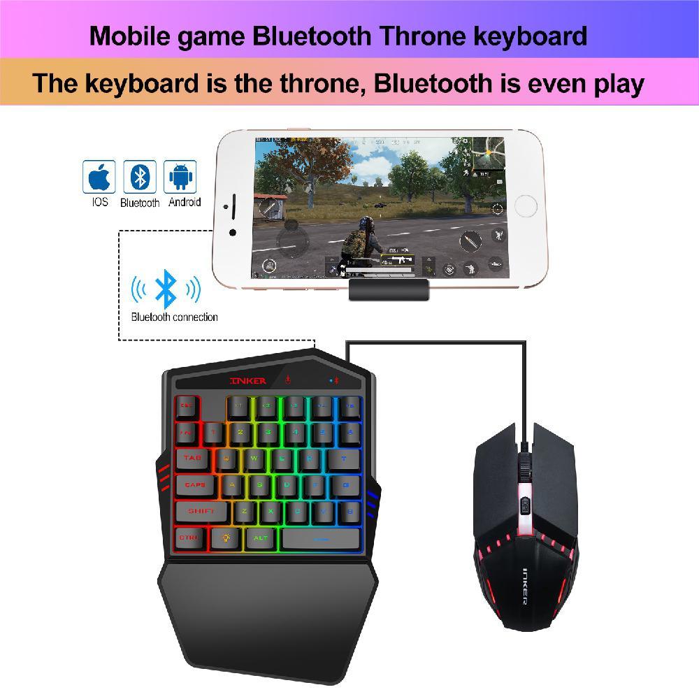 BEESCLOVER Bluetooth клавиатура для игры K99 Bluetooth беспроводная версия 4,2 клавиатура поставляется с тронным набором мыши r60