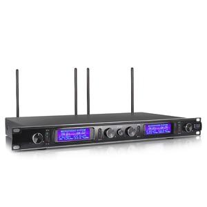 Image 4 - XTUGA EW240 4 Canali Sistema di Microfoni Senza Fili UHF Sistema di Karaoke Senza Fili 4 Microfono palmare per la Fase Chiesa Uso per il Partito