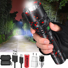80000LM XHP50.2 Super bright led flashlight USB rechargeable