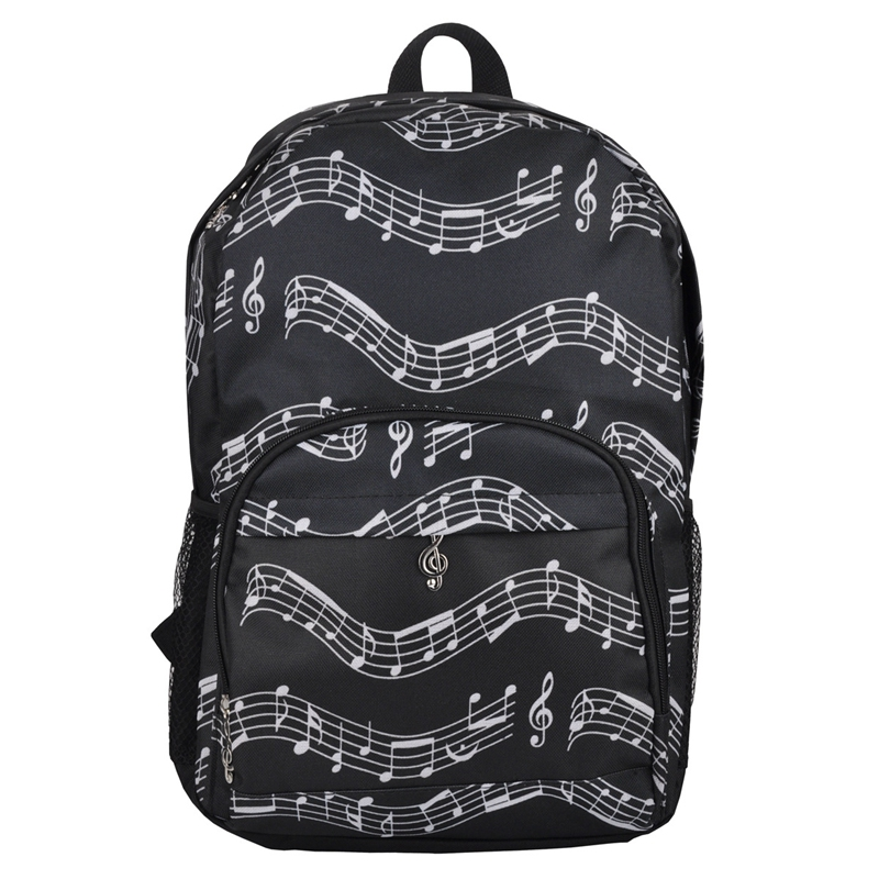 Musical Backpack Backpack Musical Notes Oxford Cloth Bag Art Department Storage Backpack