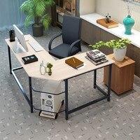 Home Office Corner Desk Computer Table Steel Wood Study Office Desk Workstation Home Desk Commercial Furniture Desk