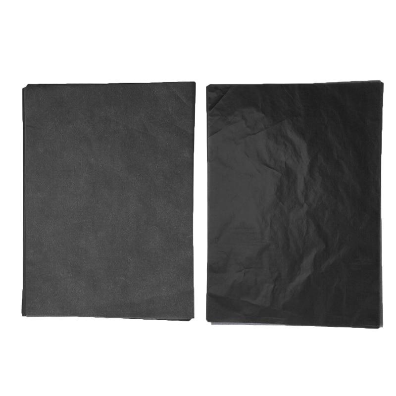 100Pcs/Set A4 Copy Carbon Paper Painting Tracing Paper Graphite Painting Reusable Legible Tracing Painting Accessory Black Blue