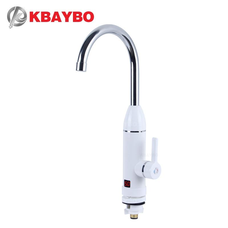 KBAYBO robinet d'eau chaude instantané, robinet de chauffage froid, chauffe-eau instantané sans réservoir, robinet de cuisine électrique