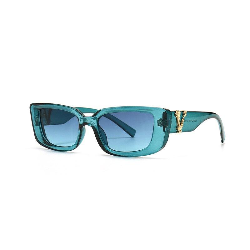 Retro Small Rectangle Sunglasses Candy Colors Gradient Sun Glasses Shades UV400 11