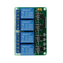 цена на 4 Way 5V 12V Relay Module Low Level Trigger Relay Control MCU Extension Development Board With optocoupler