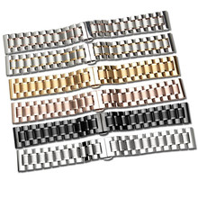 NEW 14 16 17 18 19 20 21 22 23 24MM Silver Black Full Stainless Steel Watch Band Strap Wacthband For CaL336 L4 L2 Replace