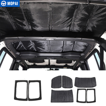 MOPAI for Jeep Wrangler JL 2018+ Car Window Roof Heat Insulation Cotton Pad Kit Accessories for Jeep Wrangler JL 2018 2019+
