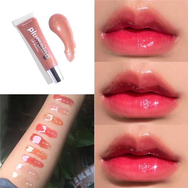 Moisturizing Gloss Plumping Lip Gloss Lip Plumper Makeup Glitter Nutritious Liquid Lipstick Cherry Mineral Oil Clear Lip Gloss 1
