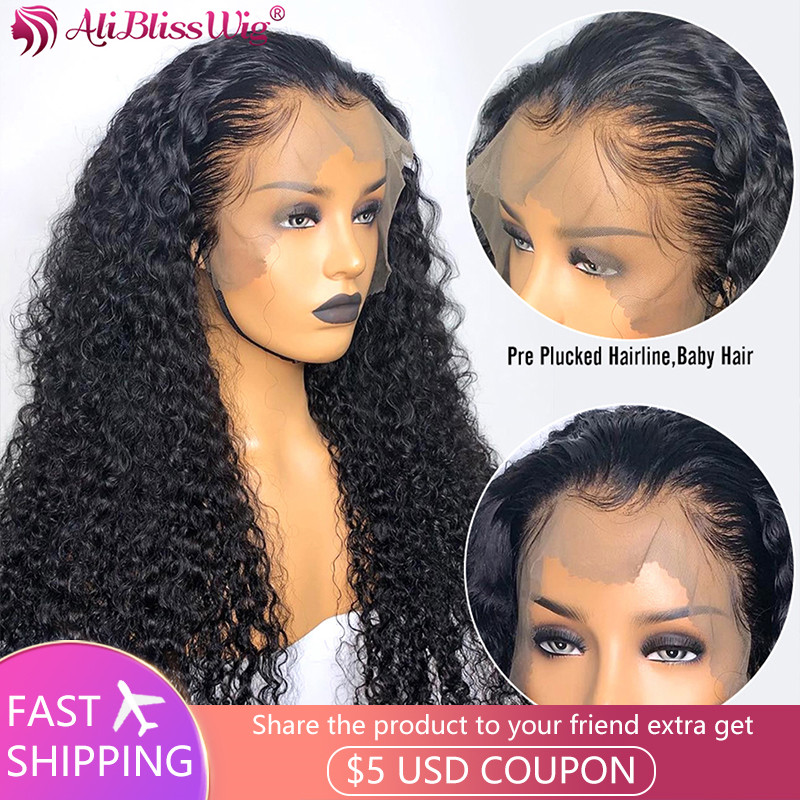 13x6 Lace Front Wig Curly Lace Front Human Hair Wigs Pre Plucked Remy Lace Front Wig Human Hair Wigs For Women Baby Hair 150%